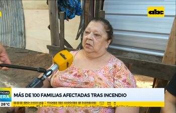 Más de 100 familias afectadas tras incendio en la Chacarita