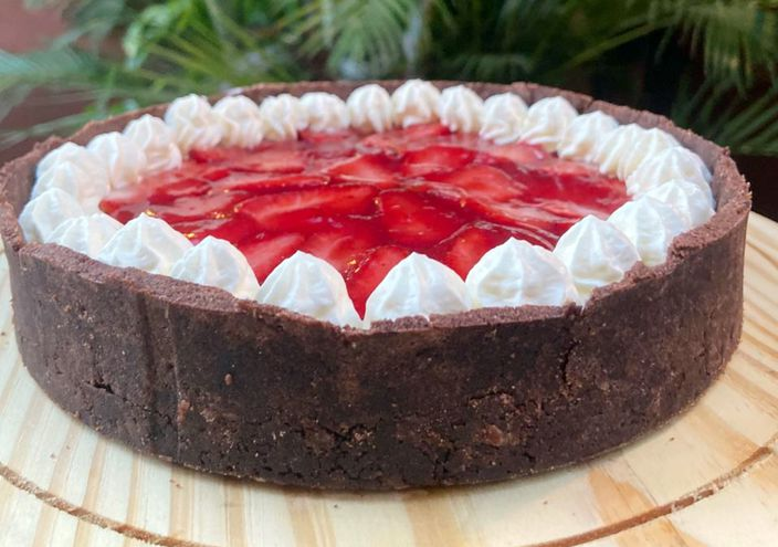 Nicole Rodgers -  La Cremma: propone esta tarta keto de frutillas, ideal para quienes están a dieta.
