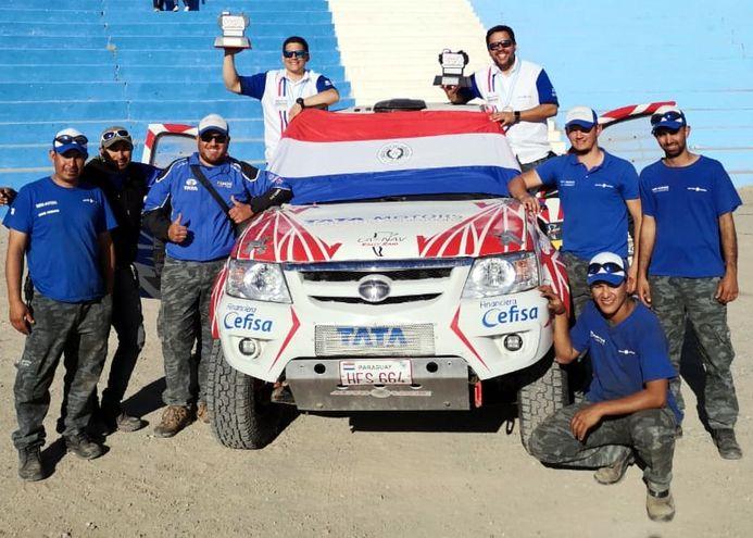 Luis Felipe Peña y Amado Báez quedaron segundos en la T1,2 Diesel con el Tata Xenón en Catamarca, Argentina.