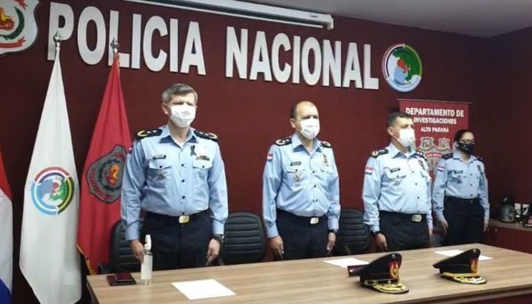 Las nuevas autoridades policiales del Alto Paraná tomaron posesión del cargo este miércoles.