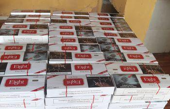 Cigarrillos de contrabando que fueron incautados.