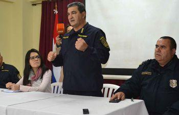 Comandante de la Policía Nacional, Walter Vázquez.