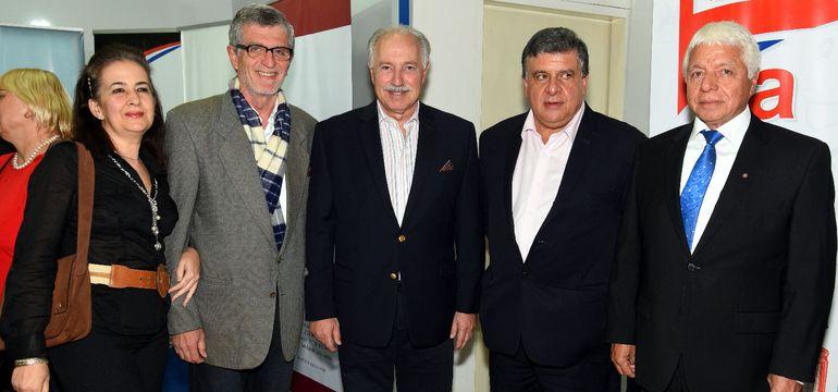 Teresa Sardi, Doménico Galli, Hugo Mersán Galli, Wilfrido Fernández y Rodolfo Ricciardi Jara.