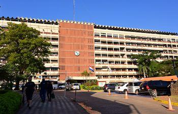 Fachada del Hospital del IPS.