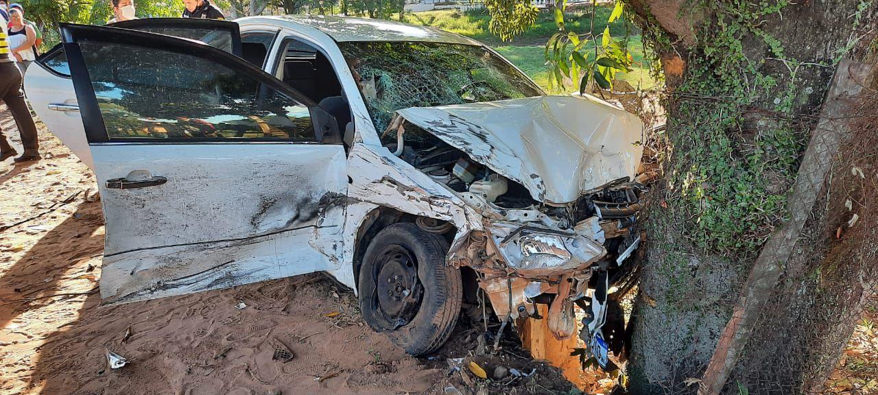 Accidente vehicular en Caacupé.