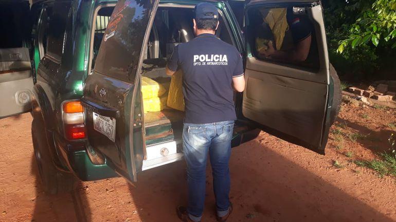 Incautan 500 kilos de marihuana en Caaguazú - Nacionales - ABC Color
