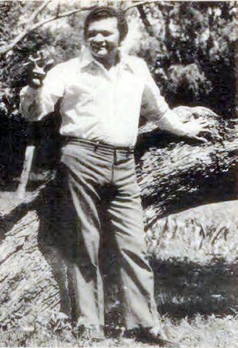 El cantante en una foto del año 1972, cuando volvió de Europa.