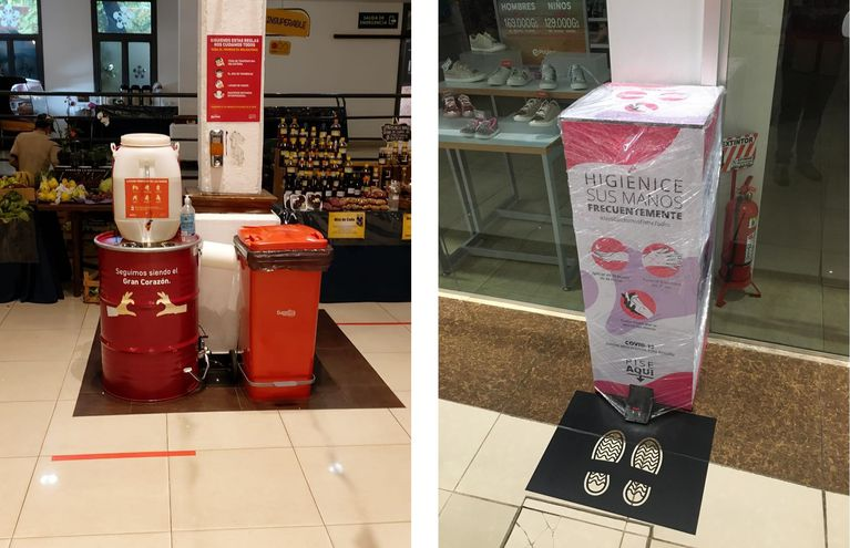 El lavado de manos será obligatorio antes de ingresar, al igual que el distanciamiento físico dentro de las tiendas.
