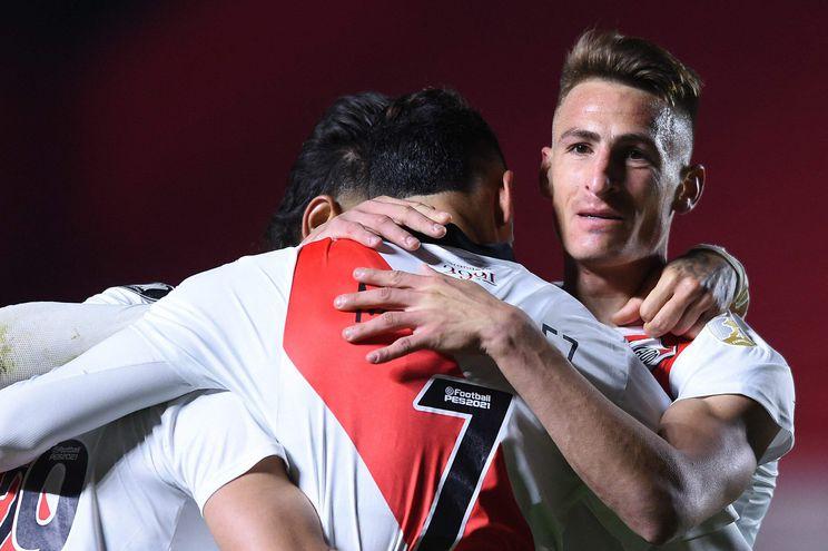 River derrotó a Argentinos y aguarda al Atlético Mineiro.