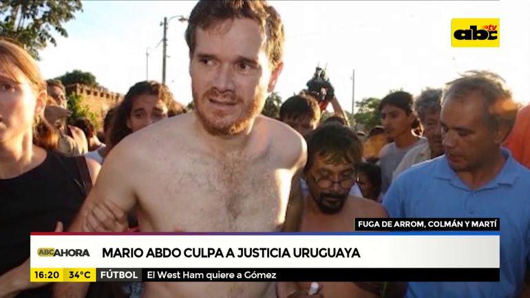 Mario Abdo culpa a justicia Uruguaya