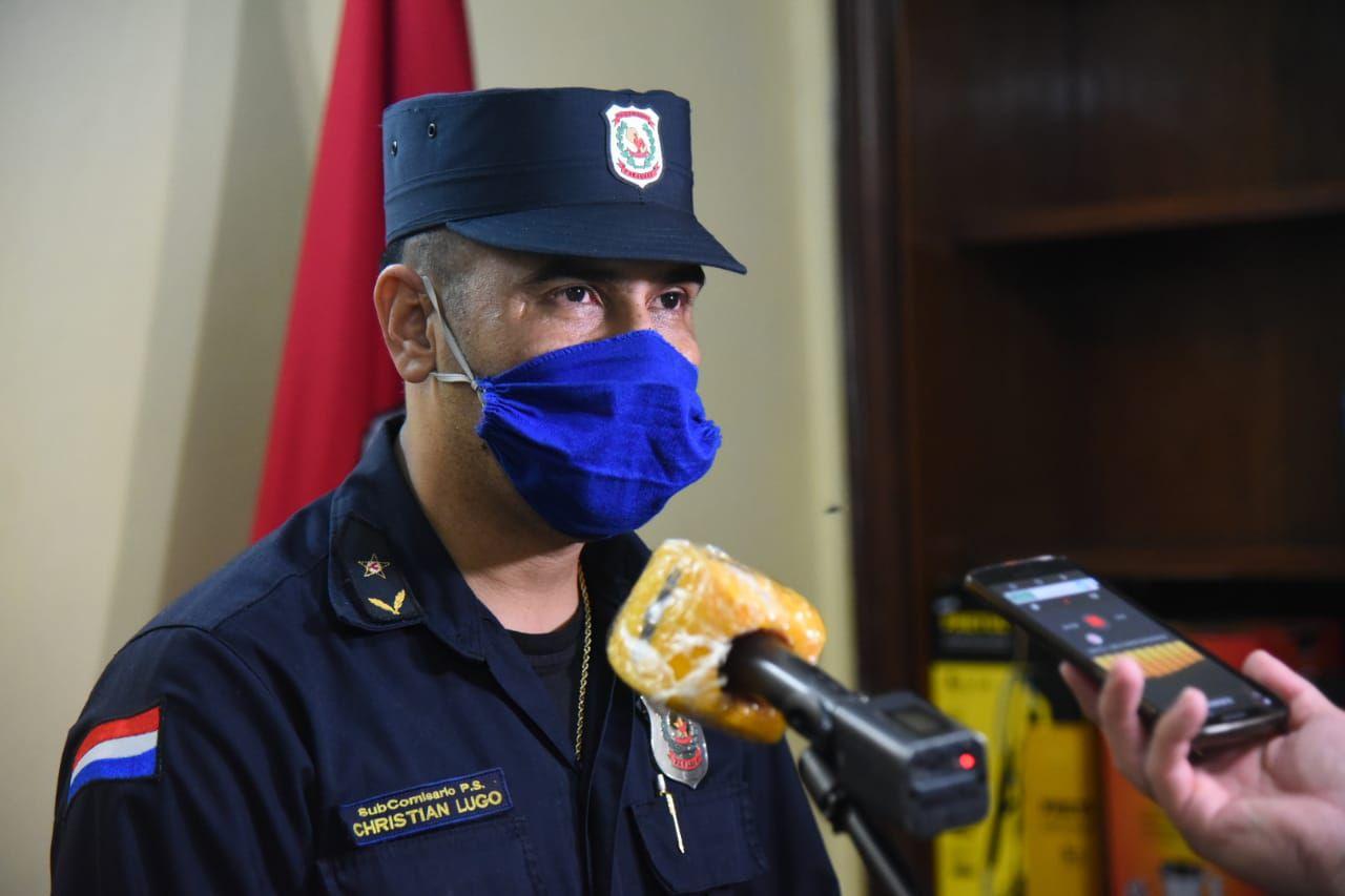 Subcomisario Christian Lugo, subjefe de la comisaría 5a. Metropolitana.