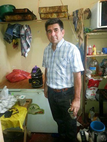 Eligio Gómez Cristaldo en una foto tomada en el año 2018 durante su reclusión.