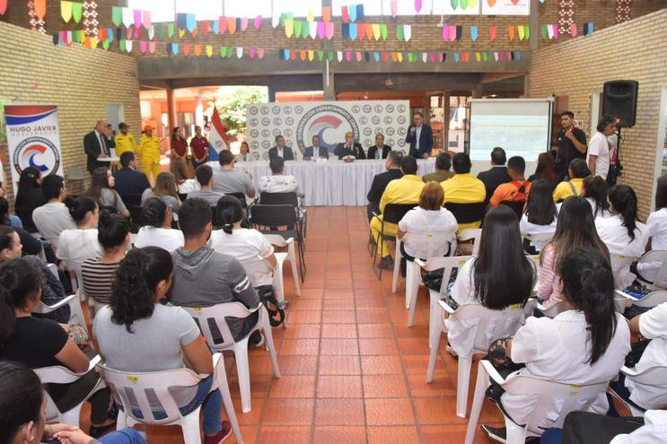 El acto de presentación de la iniciativa en Areguá.