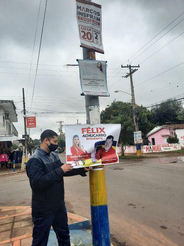Fiscal y juez electoral ordenaron retirar propagandas electorales de las cercanías de los locales de votación