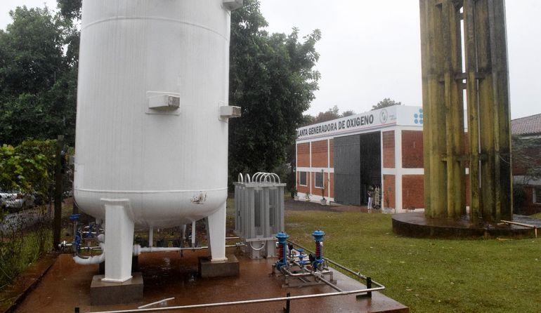Planta de oxígeno del hospital integrado del Instituto de Previsión Social (IPS) en Encarnación.