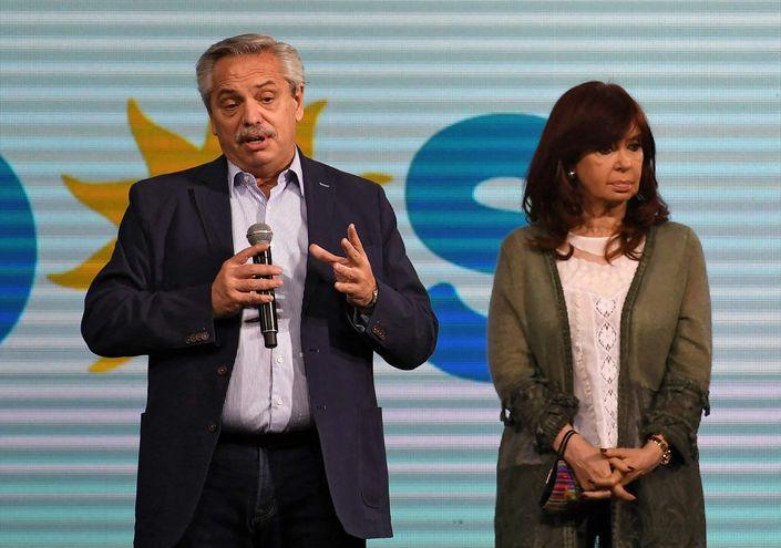 El presidente argentino Alberto Fernández y la vicepresidenta Cristina Fernández.