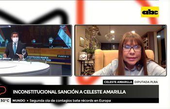 Diputada Celeste Amarilla pedirá acción de inconstitucionalidad