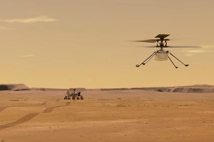 La mininave de la NASA aguarda su primer test que se cumplirá la próxima semana. (AFP)