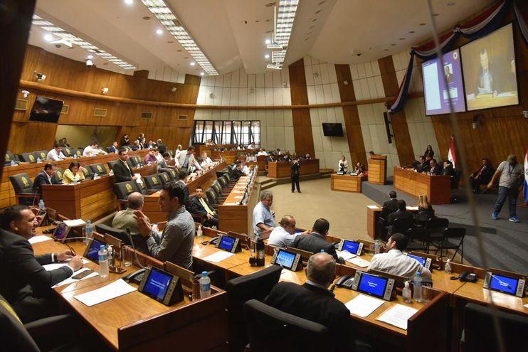 Sesión de la Cámara de Diputados este martes.