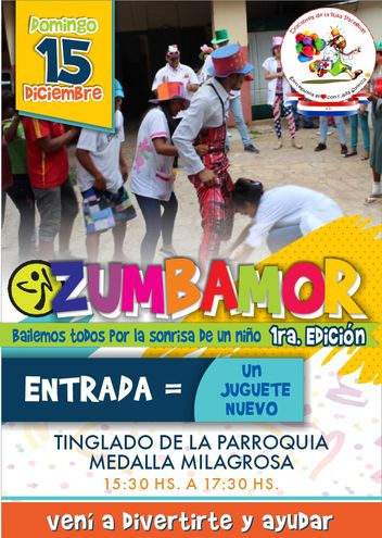 Zumbamor, para niños hospitalizados en Navidad.