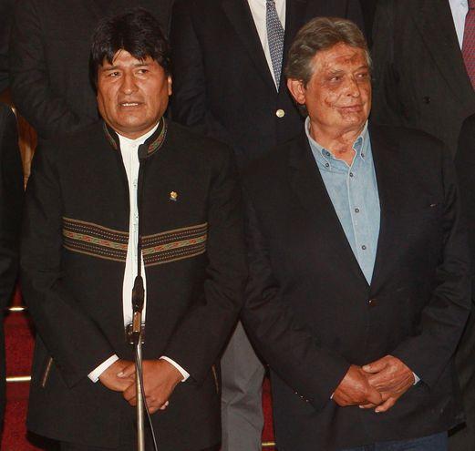 El presidente Evo Morales y el exgobernante Jaime Paz Zamora (1989-1993).  (archivo)