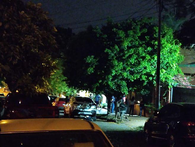 Sitio en donde sucedió el homicidio, en el barrio Jara de Asunción.