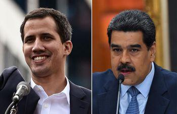 Juan Guaidó, Nicolás Maduro.