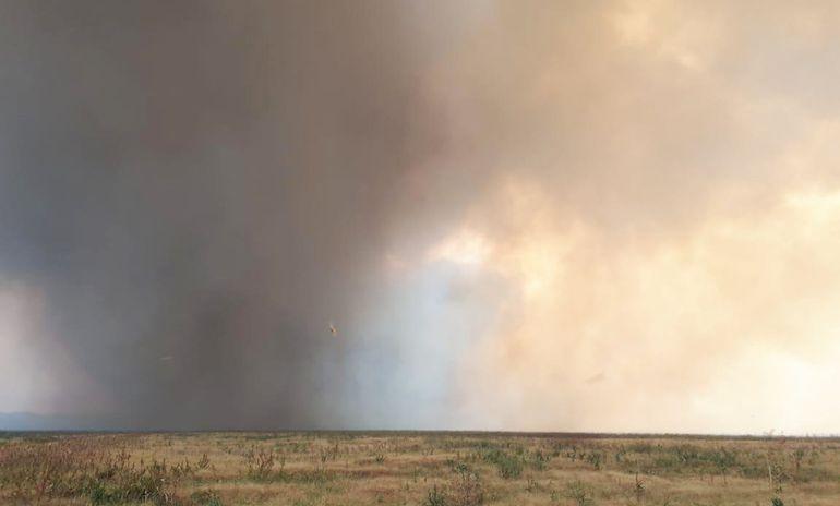 Humo y partículas se levantan en los incendios  en el Alto Paraguay, en la zona del Pantanal y cubren todo el cielo. El viento arrastra los elementos peligrosos, afectando a las poblaciones. Miles de animales también sufren  por la destrucción de su hábitat.