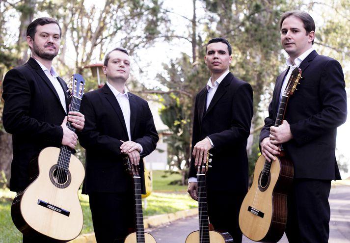 Los integrantes del Quarteto Toccata, quienes realizarán con su propuesta varios conciertos en Asunción y San Lorenzo.