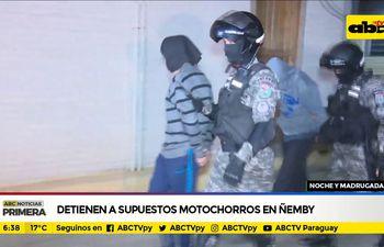 Detienen a supuestos motochorros en Ñemby