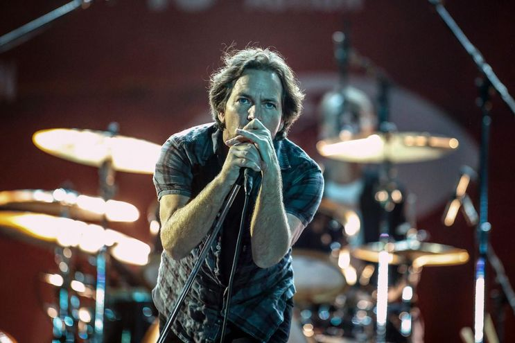 Eddie Vedder vocalista de Pearl Jam.