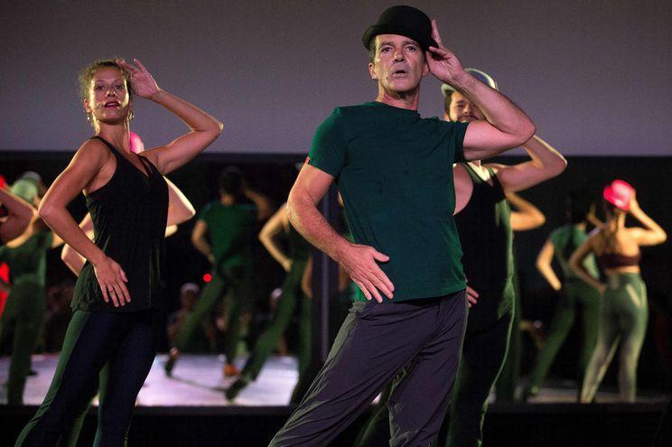 """El actor español Antonio Banderas durante el ensayo del musical """"A Chorus Line""""."""