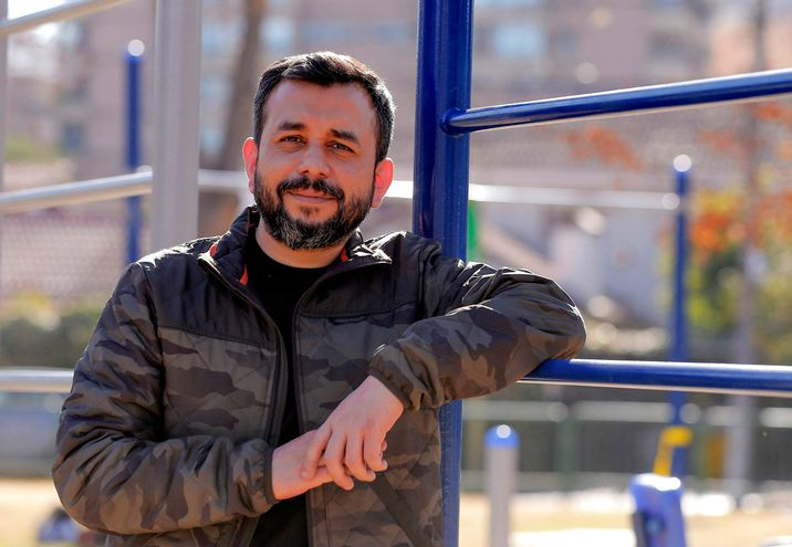 Oscar Rementeria, 41, del Movimiento de Integración y Liberación Homosexual (Movilh).
