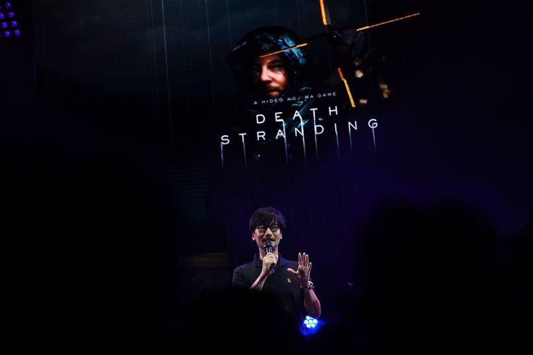 """Hideo Kojima durante una presentación de """"Death Stranding"""" en el Tokyo Game Show, en septiembre."""