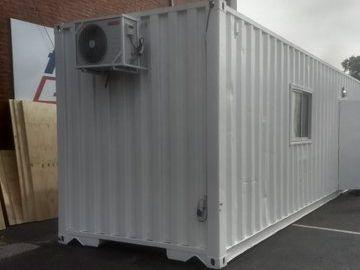 El VAR fue ubicado en un contenedor en el estacionamiento del Nuevo Gasómetro.