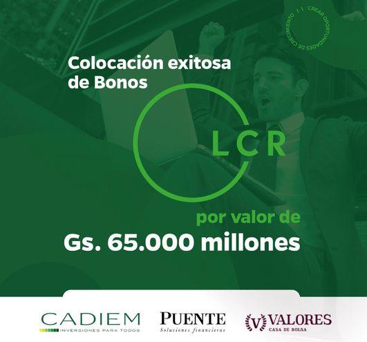 Cadiem Casa de Bolsa, Valores Casa de Bolsa y Puente Casa de Bolsa trabajan y confían en las acciones de LCR SAECA.