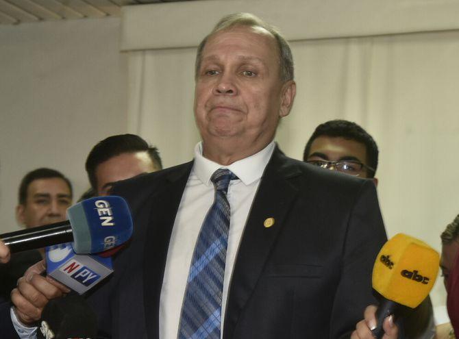 Mario Ferreiro, intendente renunciante de Asunción.