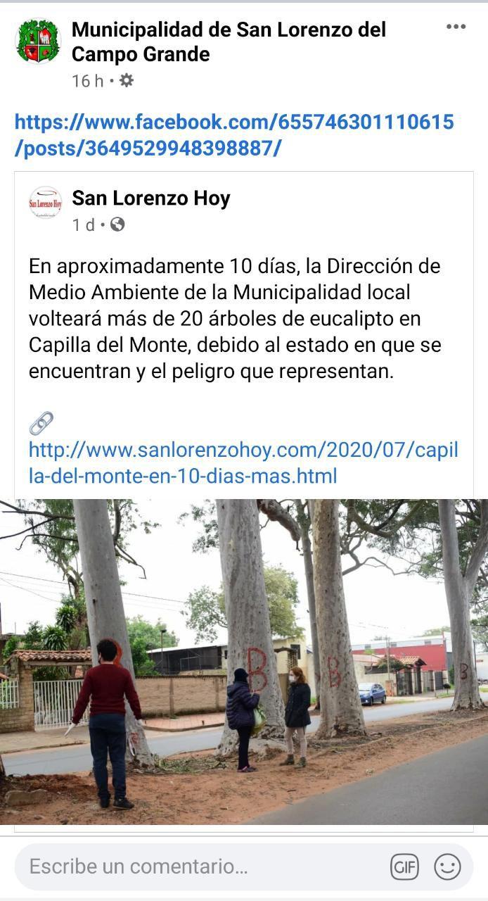 Justificación de la Municipalidad de San Lorenzo