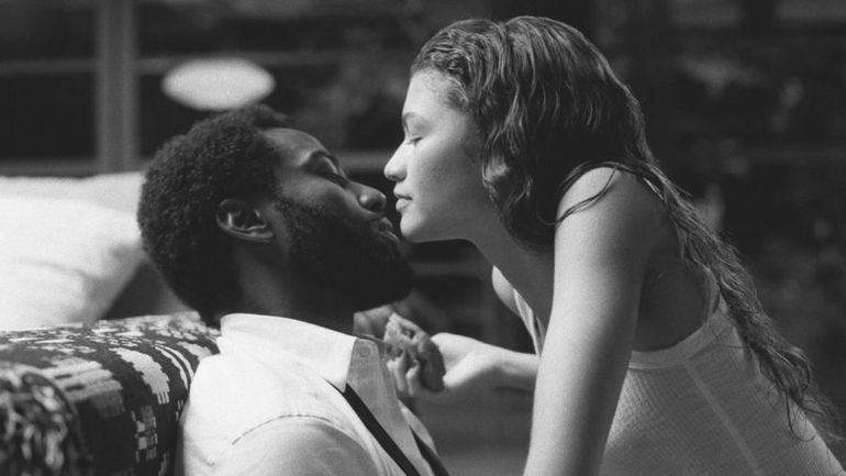 "John David Washington y Zendaya en ""Malcolm y Marie""."