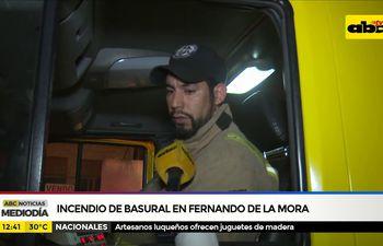 Incendio de basural en Fernando de la Mora