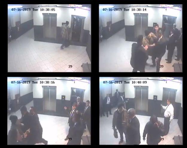 Imágenes del circuito cerrado del Congreso muestran cómo los guardias de Torres Kirmser, pagados con dinero público, agredieron días atrás al senador Paraguayo Cubas.