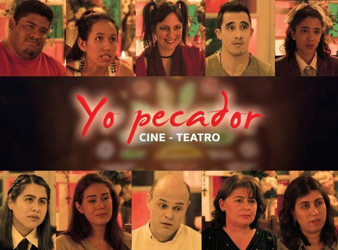 """El elenco de """"Yo pecador""""."""