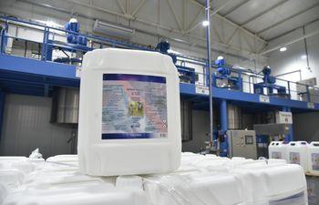 V100 es producido y distribuido por Mather Company, en la lucha contra el coronavirus.
