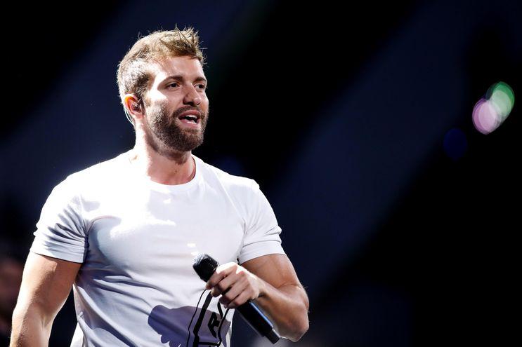 El cantante español Pablo Alborán durante el Festival Internacional de la Canción de Viña del Mar.