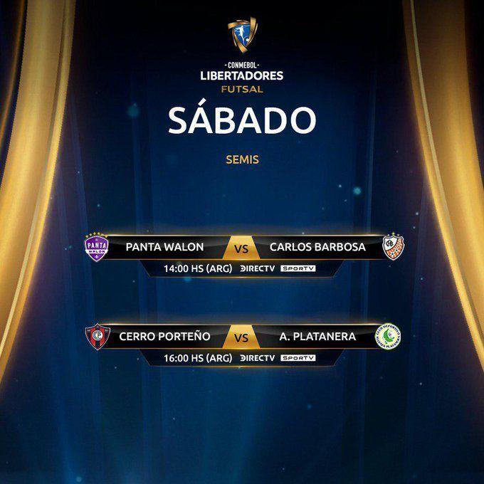 Las semifinales de la Copa Libertadores de Futsal FIFA.