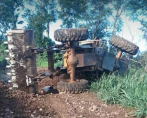 Tractor que aplastó a la víctima.