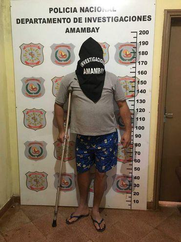 Adriano Rocha Guimaraes, criminal brasileño detenido en Pedro Juan Caballero.