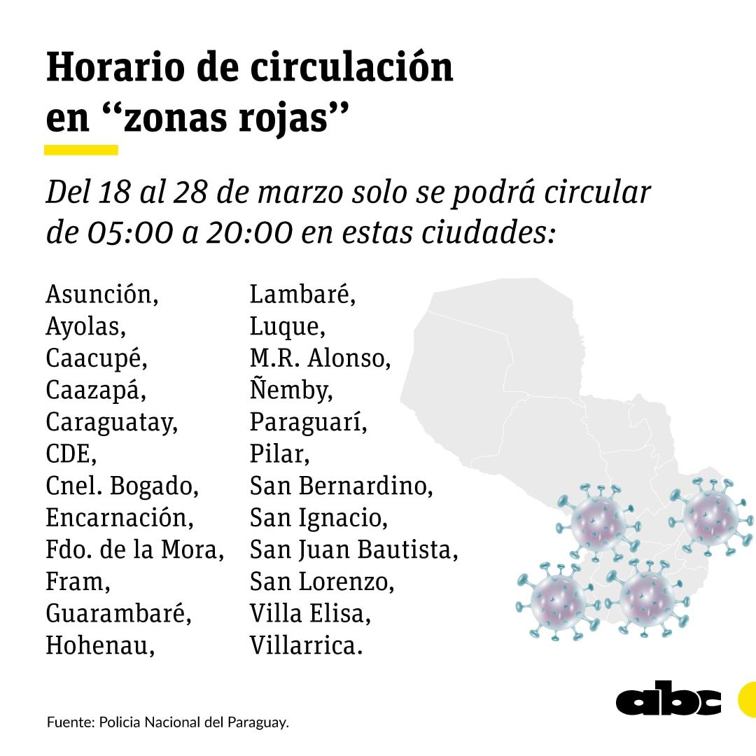Son más de una veintena las ciudades afectadas por el nuevo horario de restricciones.