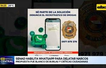 Senad habilita Whatsapp para delatar narcos