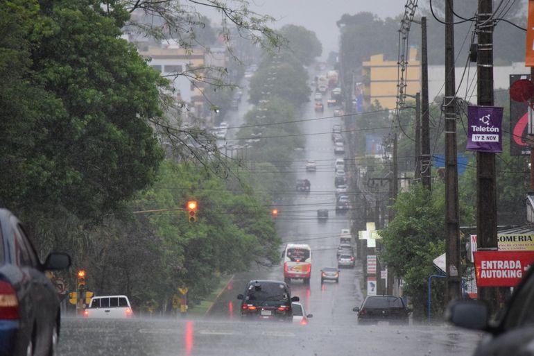 Mañana lluviosa en Encarnación.